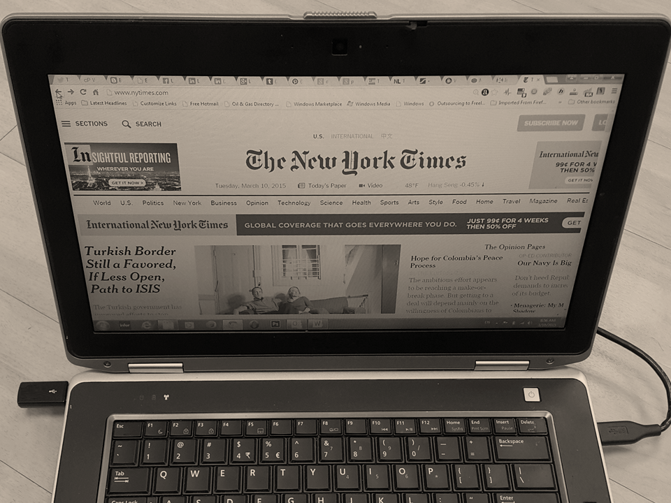 Disrupting the Media Industry – The New York Times' Paywall