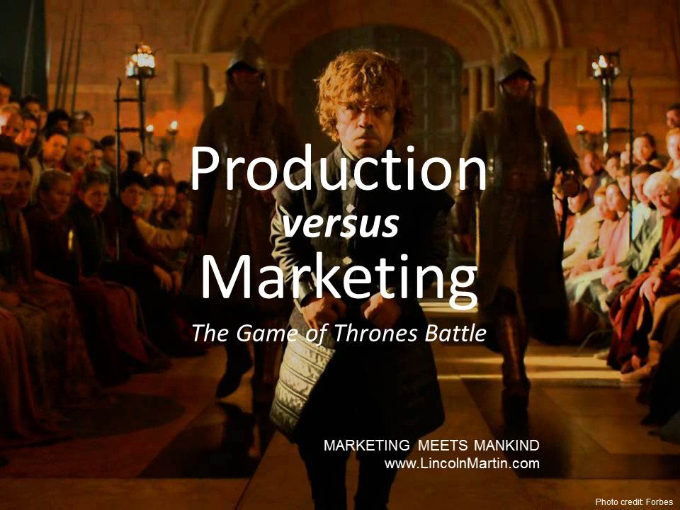 Production vs. Marketing: Game of Thrones Battle