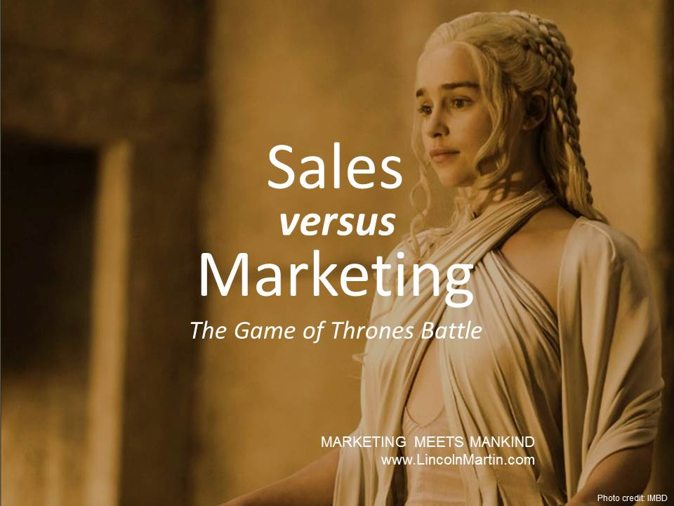 Sales vs. Marketing: The Primal Game of Thrones