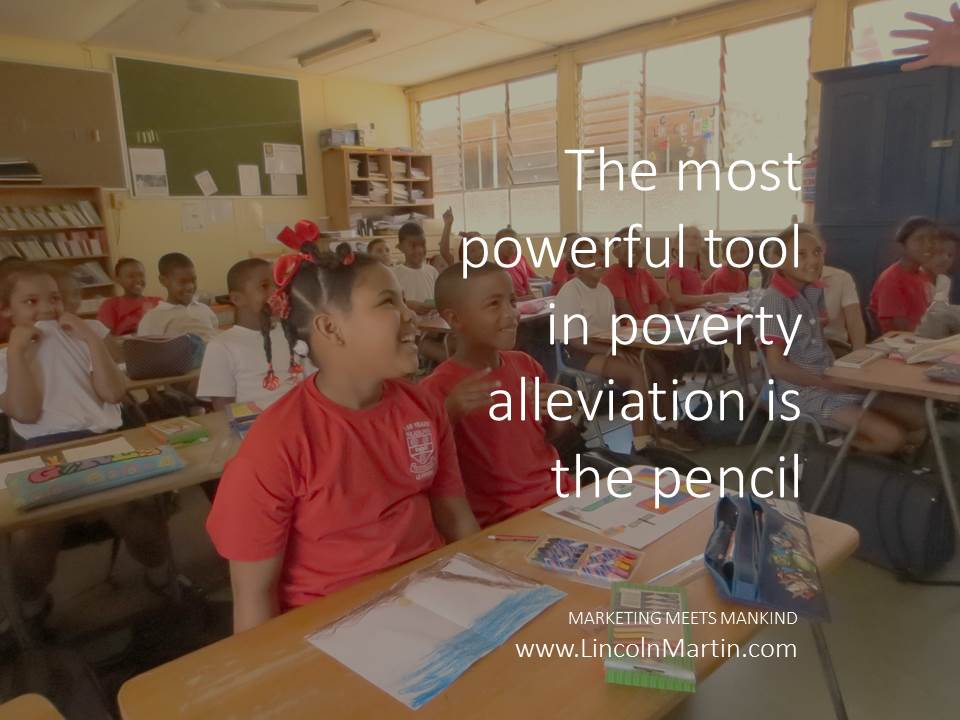 The most powerful tool in poverty alleviation is the pencil