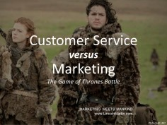 Customer Service vs. Marketing: Who Blames Who